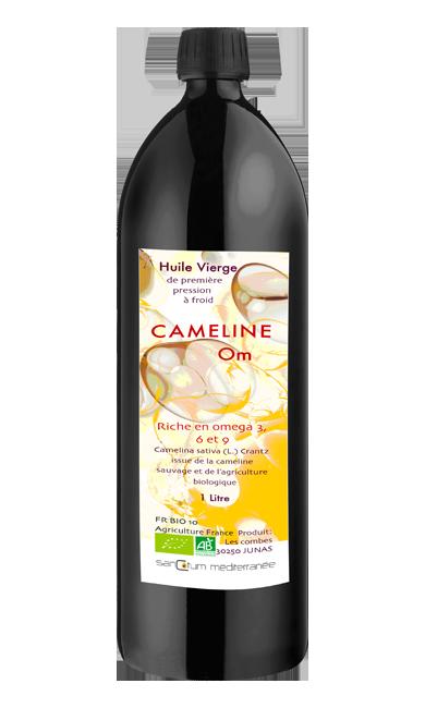 Bouteille d'huile de Cameline OM bio 1l