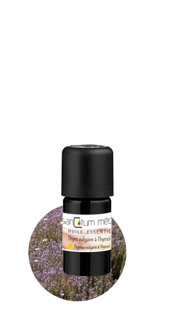 flacon d'huile essentielle de thym bio